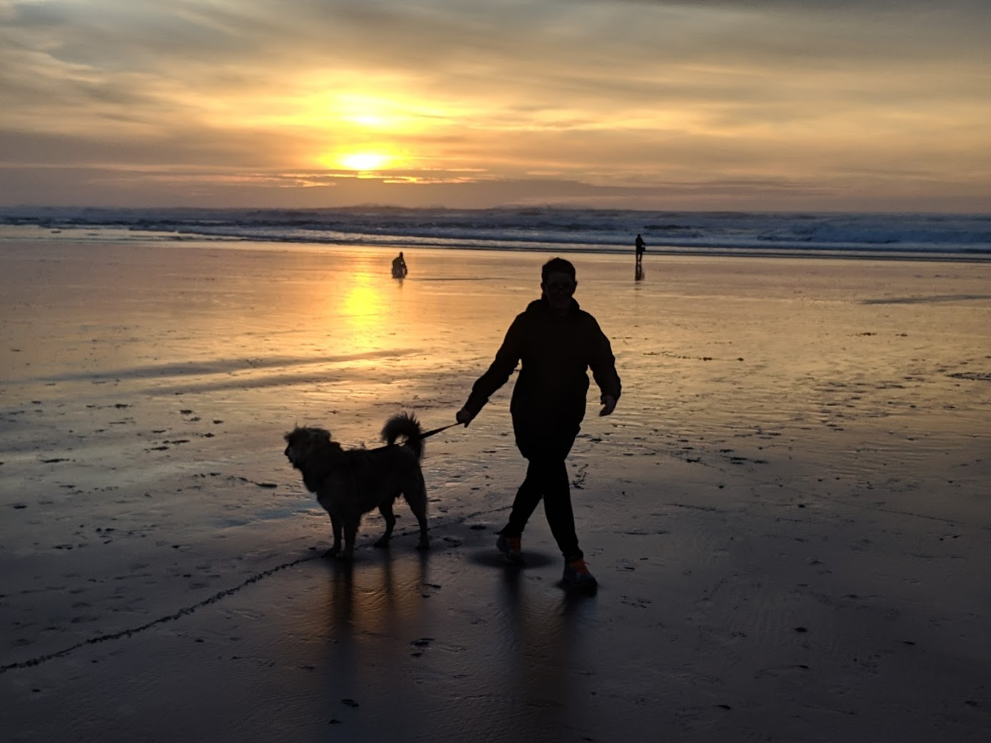 Katie & Otis at Rockaway Beach, OR