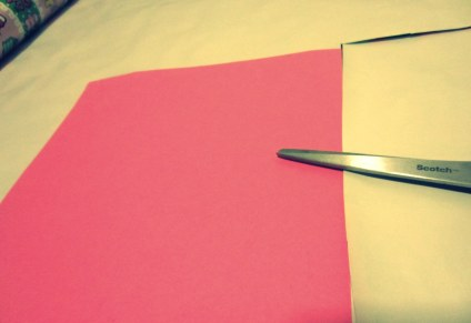 Cutting the pieces of paper