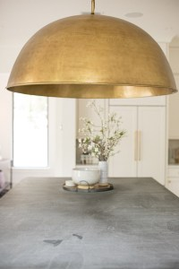 A Grand Brass Dome Island Pendant - Jamie Gernert, Work Your Closet