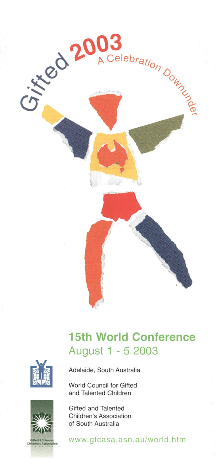 2003 World Conference Brochure Cover Adelaide Australia