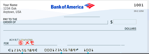 アメリカの小切手の書き方
