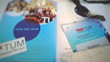 TEDxTUM pass and flyer