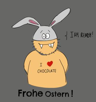 Illustration frohe Ostern