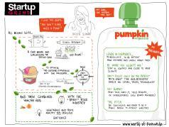 Sketchnotes von Pumpkin Organics Startup grind