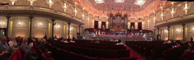 The concert hall inside the Concertgebouw.