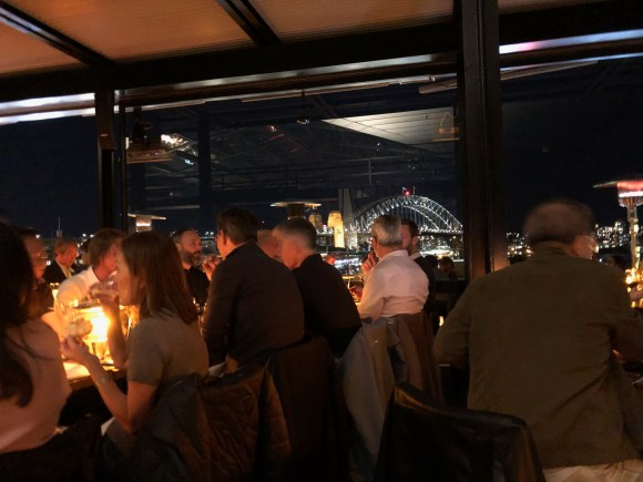 Where to Eat in Sydney: Café Sydney, with the Harbour Bridge in the background