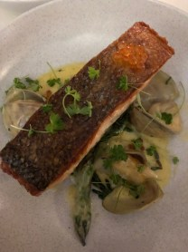 Where to Eat in Sydney: Salmon with roe and diamond clams