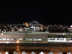 The view from Café Sydney's outdoor terrace