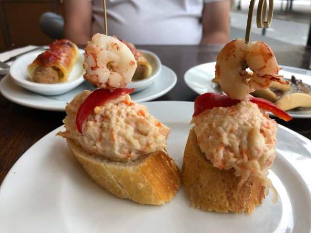 Where to Eat Tapas in Barcelona:  Dishes at La Tramoia