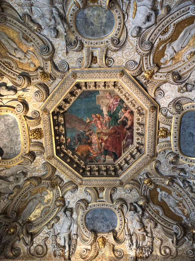 Ceiling Detail in the Palazzo Ducale, Venice