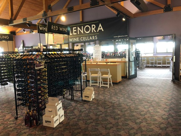 Wine Shop With Tasting Counters at Glenora Wine Cellars
