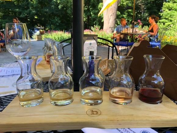 Tasting Selections at Billsboro Winery