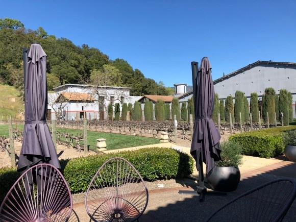 Napa Valley Wine Tour:  Patio behind the Clos Pegase tasting room