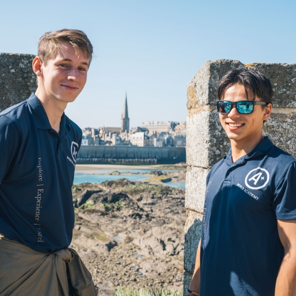 2017 May Saint Malo France Adrian and Mikael at Fort National