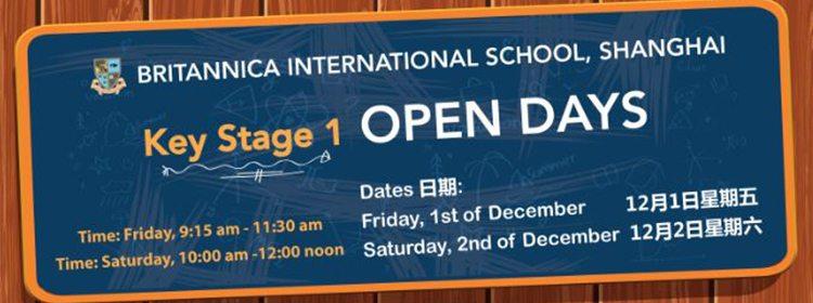 Britannica International School, Shanghai Open Day-Key Stage 1, 1st & 2nd December 2017