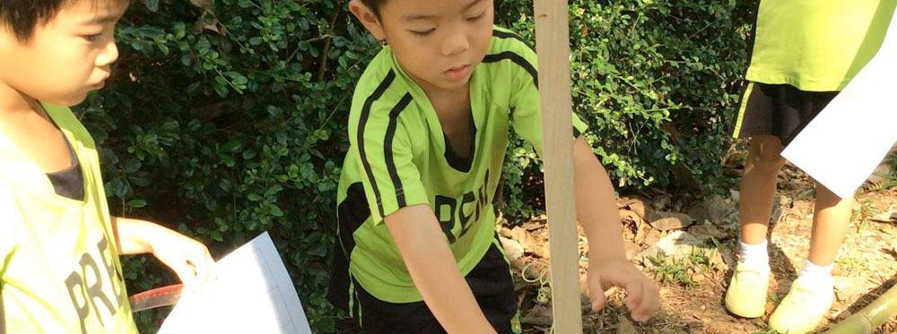 PREM EY3 Children Measure the Plant Growth in their Mini Farm