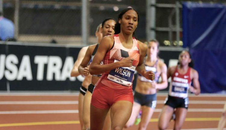 Ajee' Wilson Sets American record at 110th NYRR Millrose Games