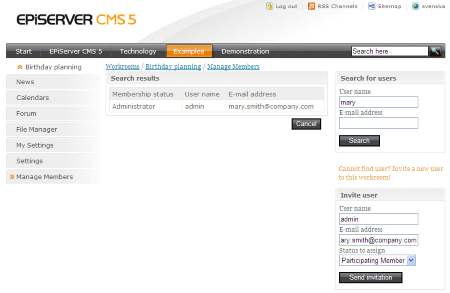 Workrooms in Demo Templates for EPiServer CMS 5 R2 SP1