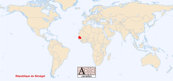 Angola Map Senegal