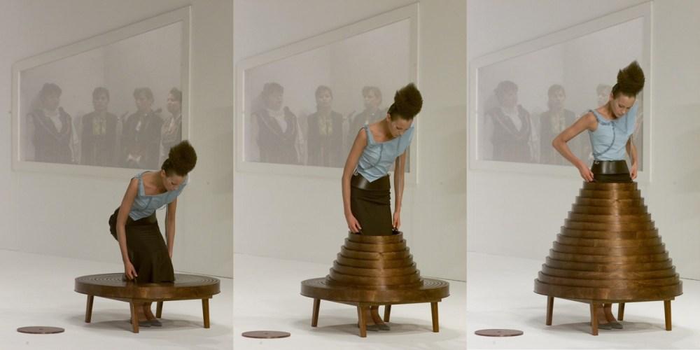 Hussein Chalayan's coffee table skirt