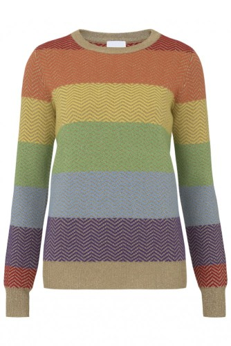 An item of clothing that Madeleine Thompson want to be, an oversized rainbow jumper.