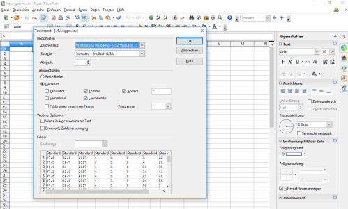 small resolution of window when you open a csv file directly with calc