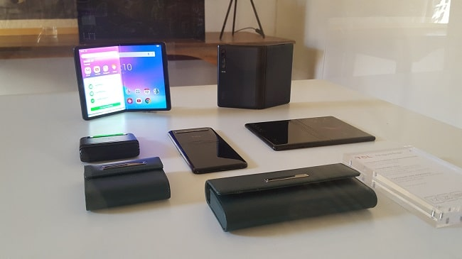 Several of TCL's upcoming foldable devices.