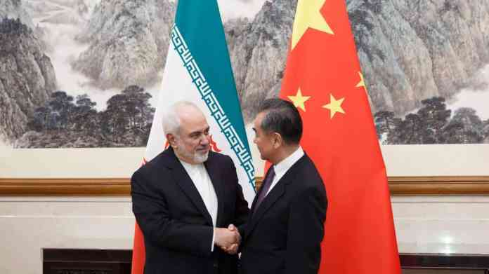 Iran Foreign Minister Mohammad Javad Zarif meets his Chinese counterpart Wang Yi in Beijing on May