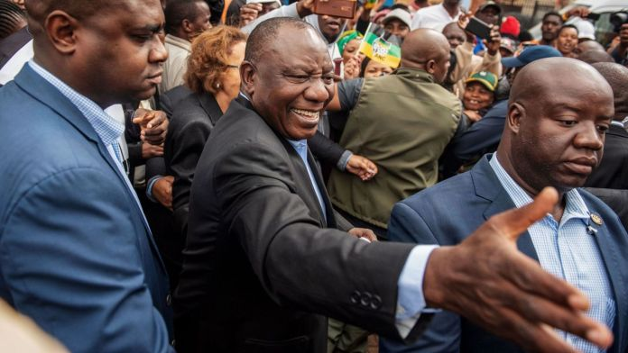 South Africa election: President Cyril Ramaphosa promises 'rocket booster for democracy'