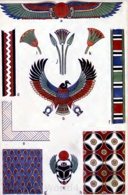 Ancient Egyptian decoration and ornaments.