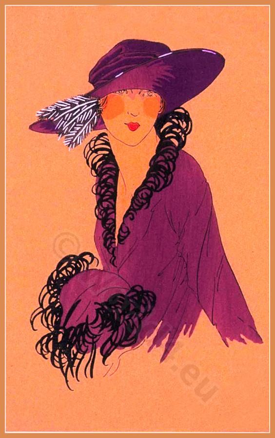 CAPRICE, Chapeaux, Très Parisien, Art deco, Art-deco, headdress, hat, fashion