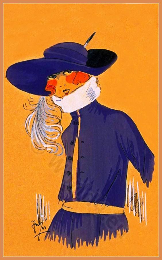 DOUX REFLETS, Chapeaux, Très Parisien, Art deco, Art-deco, headdress, hat, fashion