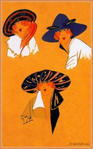 Précieux Enchantement. Art deco era headdresses. Cloche hats, Flapper, Gatsby fashion.