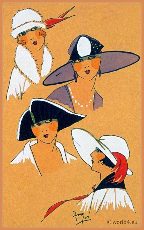 SÉLECTION EXQUISE, Chapeaux, Très Parisien, Art deco, Art-deco, headdress, hat, fashion