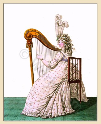 Neoclassical fashion. Jane Austen costume. Empire fashion. eighteenth century.