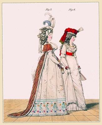 Gallery of fashion. Nikolaus von Heideloff. England Regency fashion.