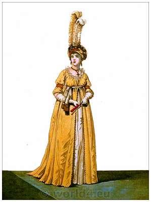 Neoclassical fashion. Jane Austen costume. Empire fashion. eighteenth century.