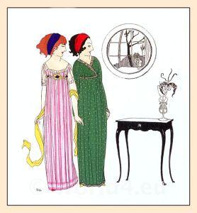 Paul Poiret. Art Nouveau. Fin de siècle, Belle Époque fashion era.