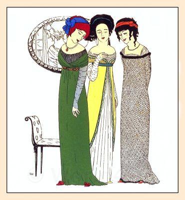 Couturier Paul Poiret, Art Nouveau Costumes, French Vintage Haute Couture Fashion