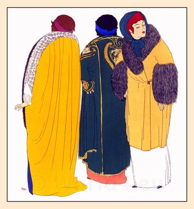 Paul Iribe, Paul Poiret, costumes, Art Nouveau, Art deco, Robes