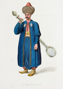 Cook of the Janissary corps. Ottoman empire historical clothing