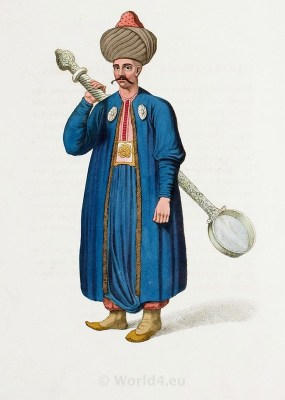 Laddle-Bearer. Cook costume. Janissary corps. Historical Turkish costumes.
