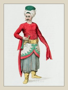 Turkish Servant to the Grand Vizier. Ottoman empire historical clothing