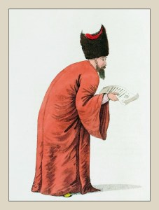 First Dragoman. Turkish Sultan. Ottoman Empire Messenger clothing