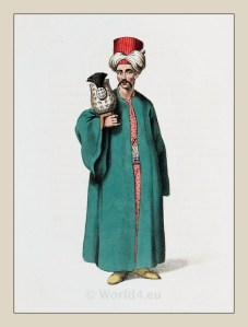 Ottoman Empire costume, dresses and caftan. Traditional Turkish mens dress, turban and clothing. امپراتوری عثمانی, османская империя, Turkish Military Costume.