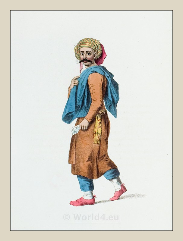 Syrian arab costume. Arabian Syria clothing. Ottoman empire costumes.