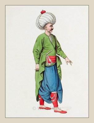 Inferior Officer costume. Ottoman Empire Elite army. Turkey Military uniforms.
