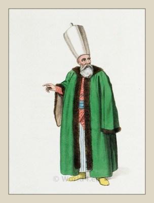 A Member of the Divan. Ottoman Empire officials costumes.