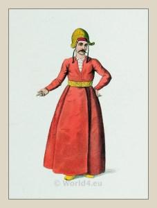 Ichlogan. İçoğlan. Historical Turkish servant costumes. Ottoman empire Sultan.