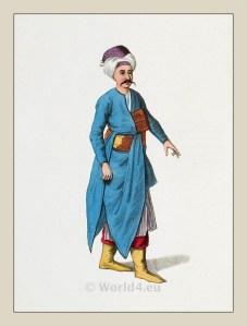 Servant costume. Ottoman house. Ottoman empire historical clothing